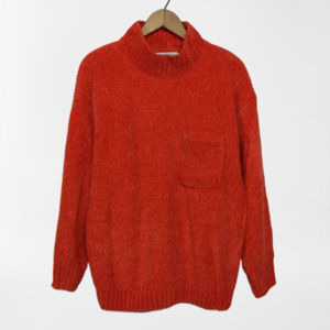 Vintage Oversize Cozy Chenille Velour Sweater Top